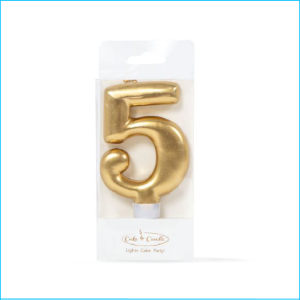 Candle Gold Number 5