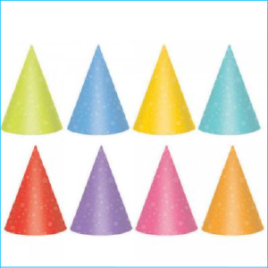 Party Hat Brights Pk 24