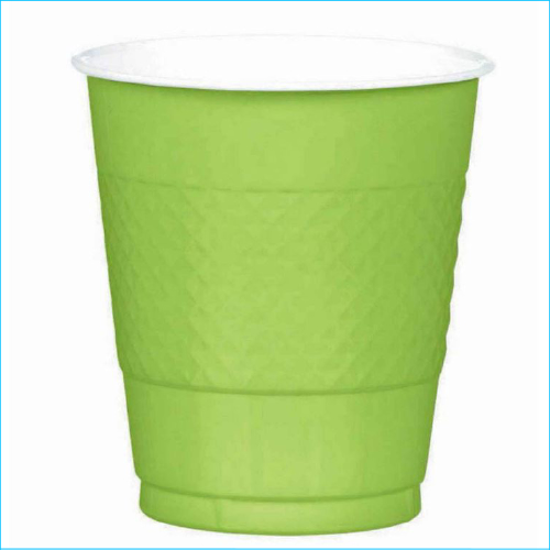 Lime Green Plastic Cups Pk 20