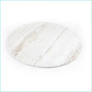 "Cake Board Printed White Wood 14"" Round"