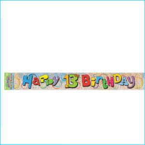 Happy 13th Birthday Foil Banner 365