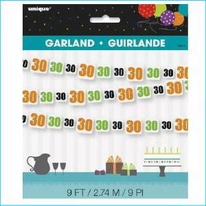 Birthday Cheer 30 Garland 9ft