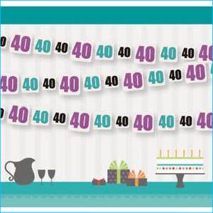 Birthday Cheer 40 Garland 9ft