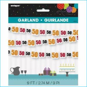 Birthday Cheer 50 Garland 9ft