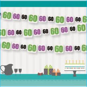 Birthday Cheer 60 Garland 9ft