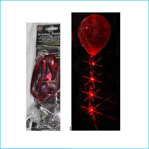 Sparkle Balloon Ribbon LED Light Red