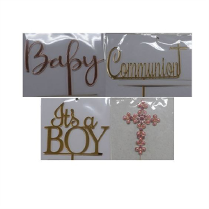 Baby, Christening & Communion Toppers