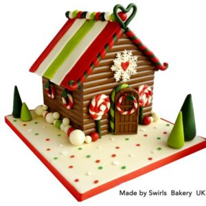 Silicone Mould Gingerbread House 2pc