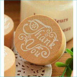 Timber Ink Stamp Thank You 4cm