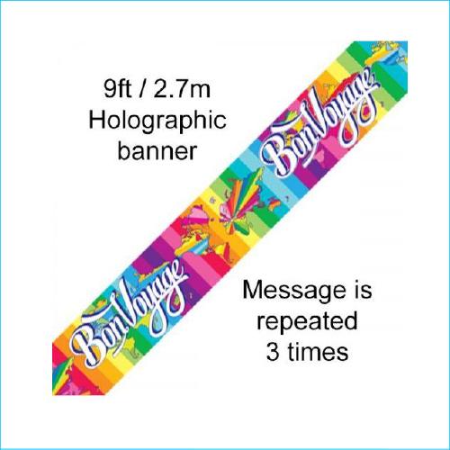 Bon Voyage Foil Banner 270m