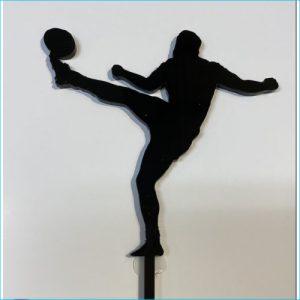 Cake Topper Football Black 14cm x 10cm