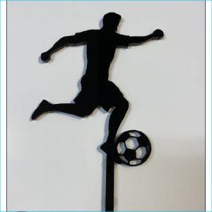 Caker Topper Soccer Black 15cm x8 cm