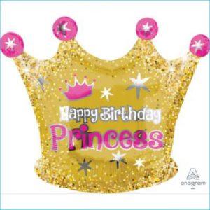 Foil Princess Crown Pink/Gold 45cm