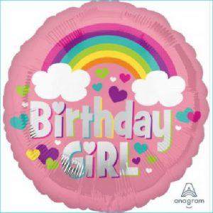 Foil Birthday Girl Rainbow Cloud 45cm