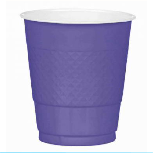 New Purple Plastic Cups Pk 20 355ml