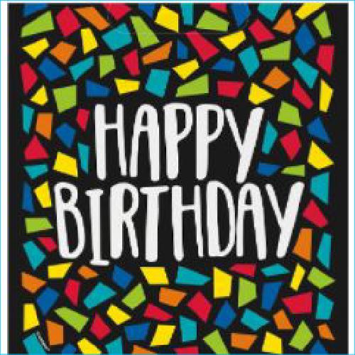 Lolly Bag Happy Birthday Mosaic pk 8