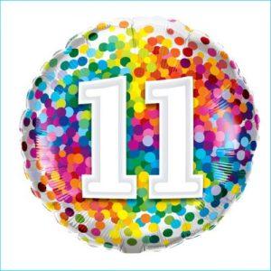 Foil 11th Birthday Confetti 45cm
