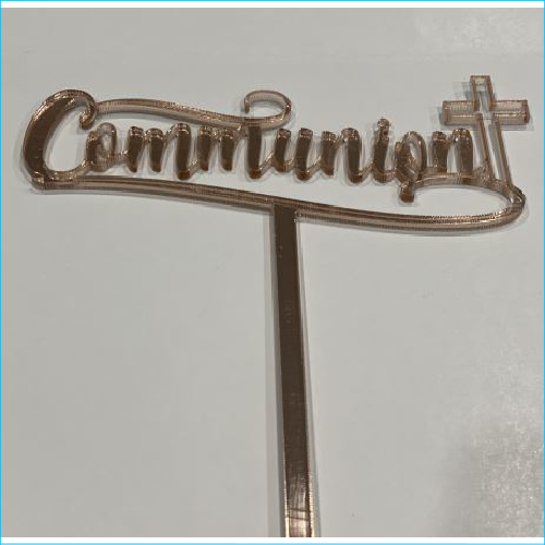 Cake Topper Communion Rose Gold