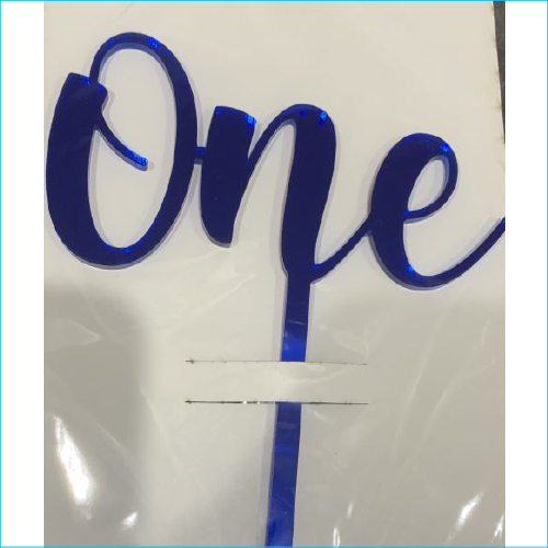 Cake Topper One Blue