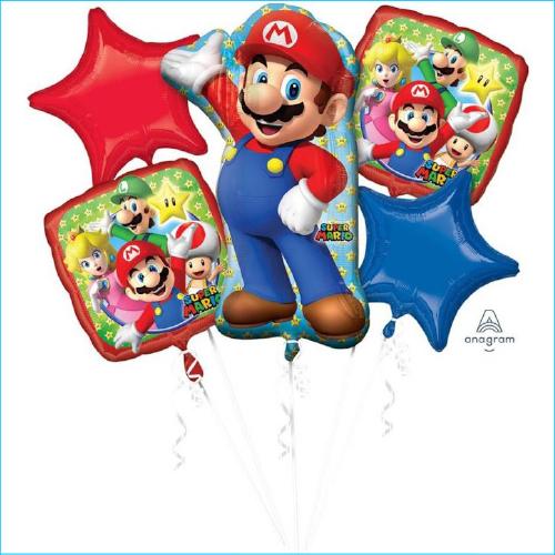 Foil Bouquet Super Mario Set 5