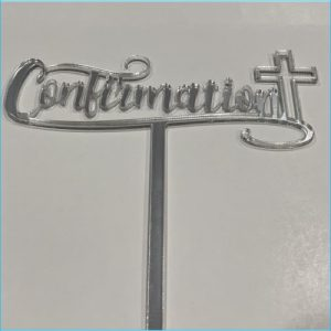 Cake Topper Confirmation Silver