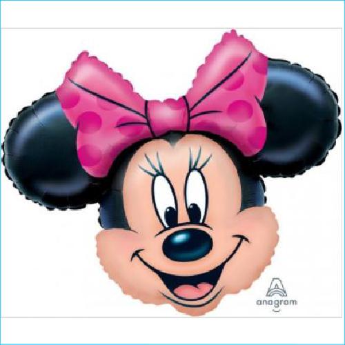 Foil Minnie Mouse Head 71cm