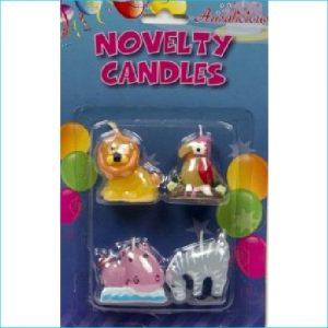Candle Safari Animal Pk 4