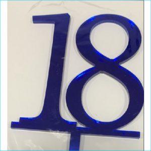 Cake Topper Blue Number 18