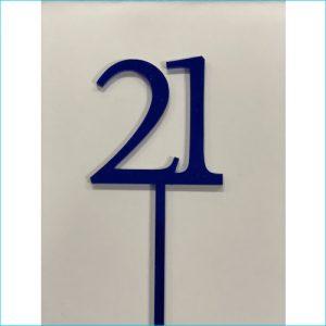 Cake Topper Blue Number 21