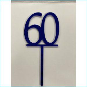 Cake Topper Blue Number 60
