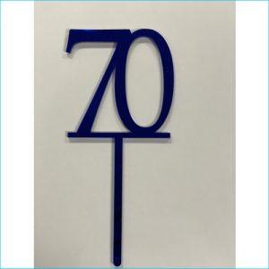 Cake Topper Blue Number 70