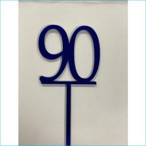 Cake Topper Blue Number 90