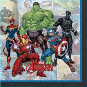Marvel Avengers Lunch Napkins Pk 16