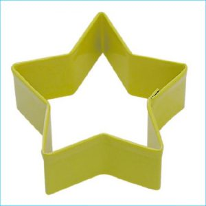 """Cookie Cutter Star 2.75"""" Yellow"""
