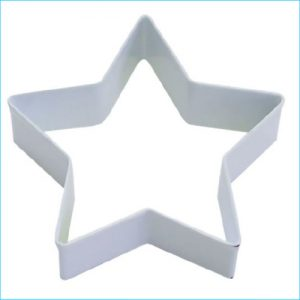 "Cookie Cutter Star 3.5"" White"