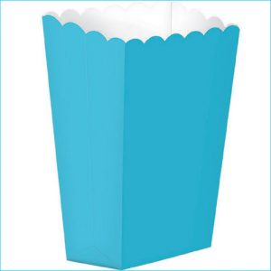 Caribbean Blue Treat Boxes Pk 5