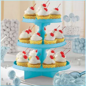 Cupcake Stand 3 Tier Caribbean Blue 11.5