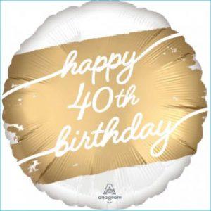 Foil 40th Birthday Golden Age 45cm
