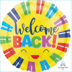 Foil Welcome Back Colourful 45cm
