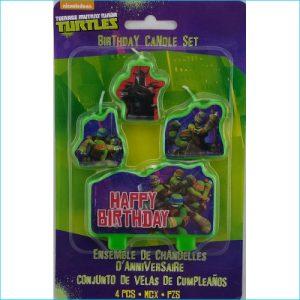 Candle Teenage Mutant Ninja Turtles Pk 4