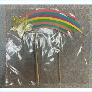 Cake Topper Rainbow Star Party