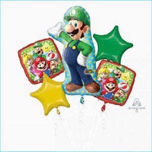 Foil Bouquet Super Mario Luigi Set 5
