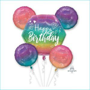 Foil Bouquet Happy Birthday Sparkle Set